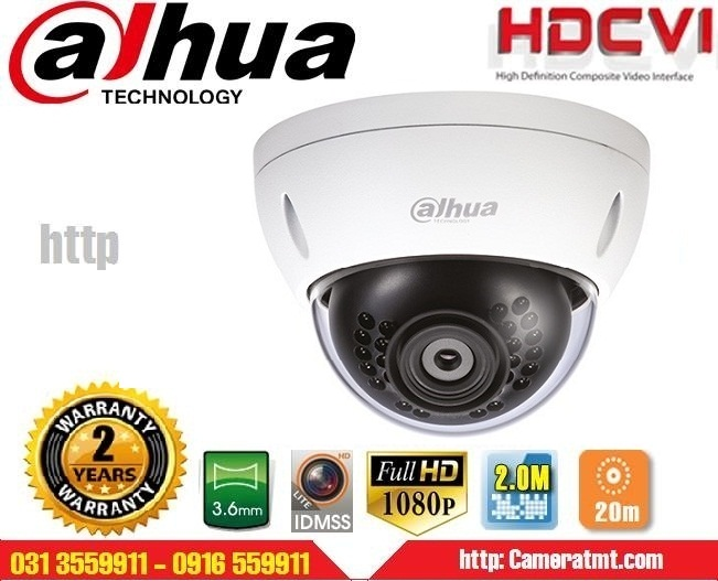 CAMERA IP DOME DAHUA IPC-HDBW1200EP-W