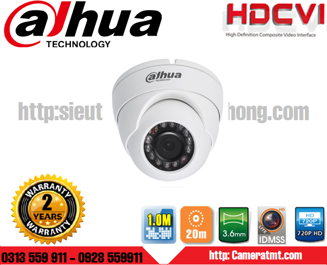 CAMERA DOME HDCVI DAHUA HAC-HDW1000MP